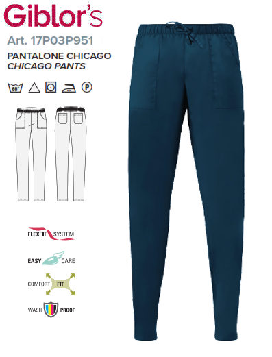 Gb8-M77B -PANTALONE CHICAGO - Petrolio