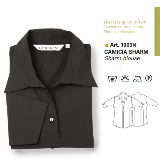 Gb8-X264B - CAMICIA SHARM- Nero