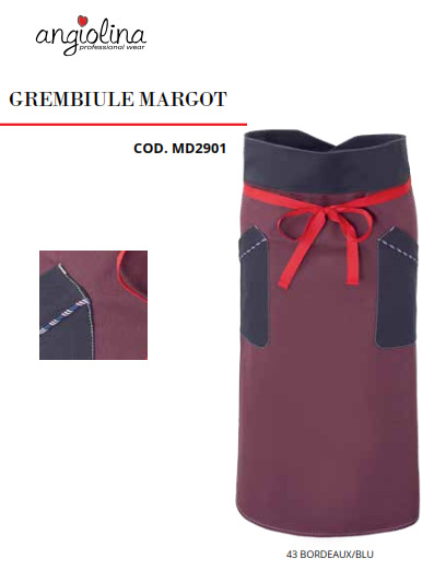 A7W13B - GREMBIULE MARGOT - Bordeaux / blu