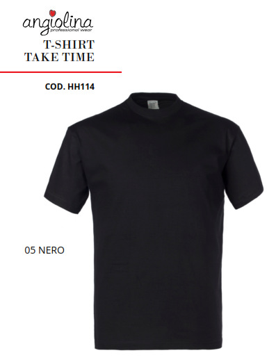 A7W73C - T-SHIRT TAKE TIME - 05 Nero