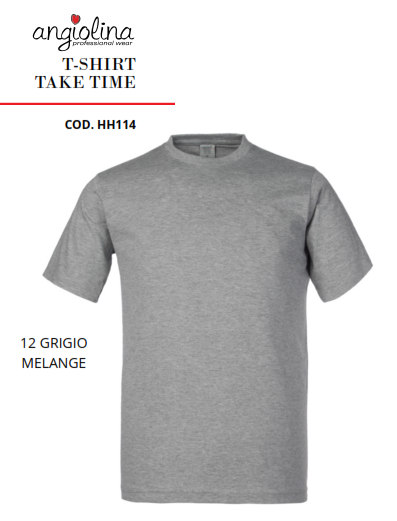 A7W73J - T-SHIRT TAKE TIME -12 GRIGIO MELANGE