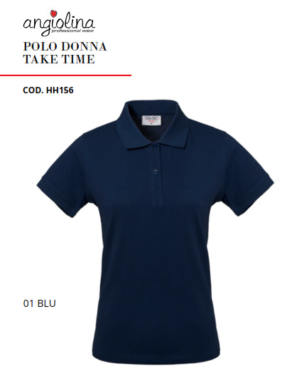 A7W74A - POLO DONNA TAKE TIME - 01 BLU