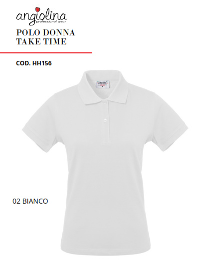 A7W74B - POLO DONNA TAKE TIME - Bianco