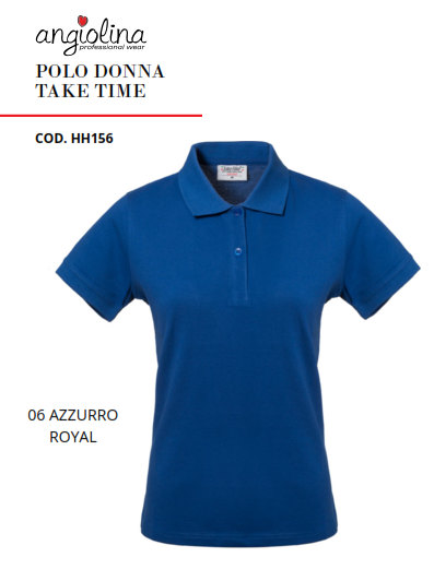 A7W74D - POLO DONNA TAKE TIME - 06 AZZURRO R.