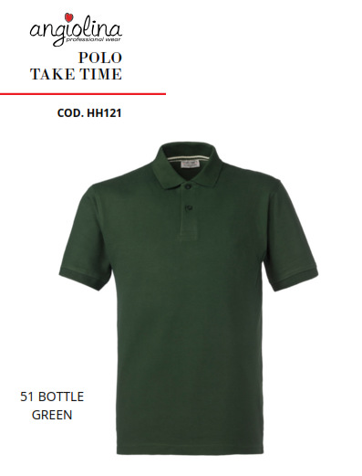 A7W75L - POLO TAKE TIME - 51 VERDE BOTTIGLIA
