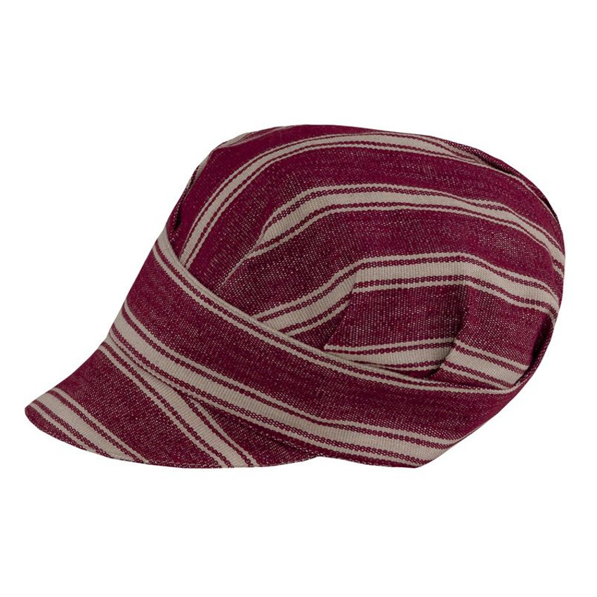 Gb9-F337N - Cappello Tommy - Bourdeaux rigato