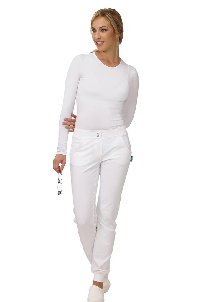 DB8-273E - PANTALONE MEDICO DONNA HOPE- Bianco