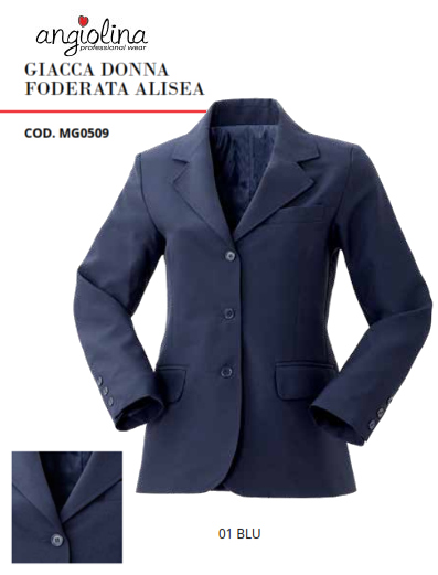 A7-H80B - LINED ALISEA WOMEN JACKET - 01 BLUE