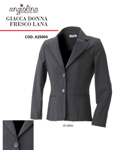 A7-H81A - FRESH WOOL WOMEN JACKET - 05 Black