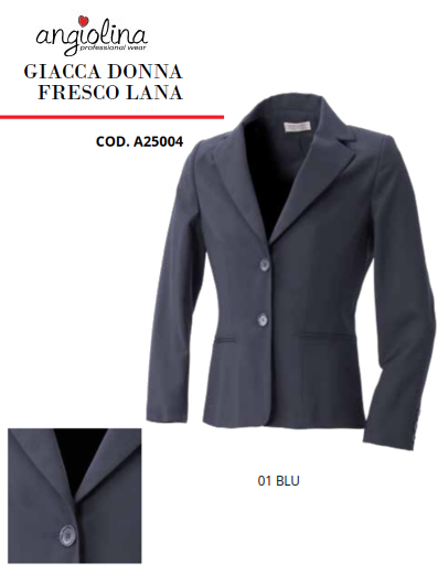 A7-H81B - FRESH WOOL WOMEN JACKET- 01 BLUE