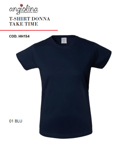 A7W72A -T-SHIRT DONNA TAKE TIME - 01 BLU