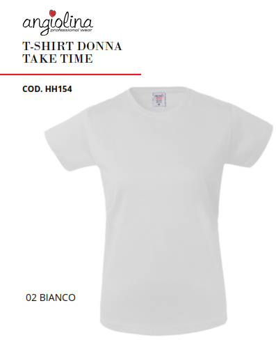 A7W72B - T-SHIRT DONNA TAKE TIME - Bianco