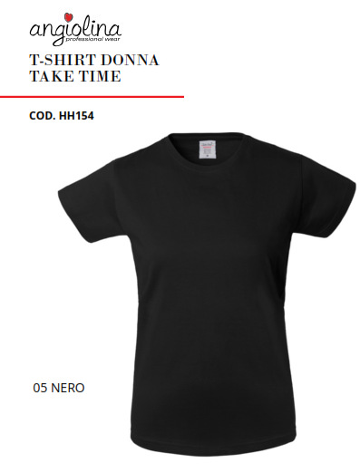 A7W72C - T-SHIRT DONNA TAKE TIME - 05 Nero