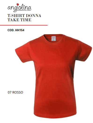 A7W72E - T-SHIRT DONNA TAKE TIME - 07 ROSSO