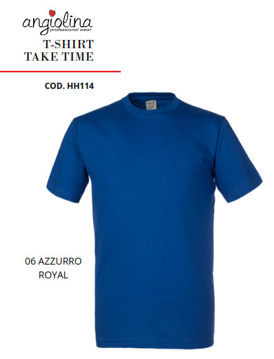 A7W73D - T-SHIRT TAKE TIME - 06 AZZURRO R.