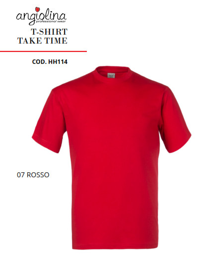 A7W73E - T-SHIRT TAKE TIME - 07 ROSSO