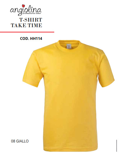 A7W73H - T-SHIRT TAKE TIME - 08 GIALLO