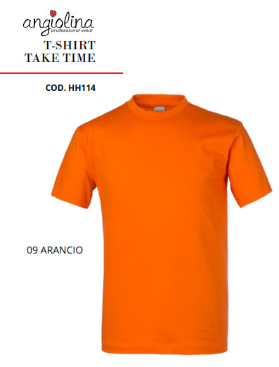 A7W73G - T-SHIRT TAKE TIME - 09 ARANCIO