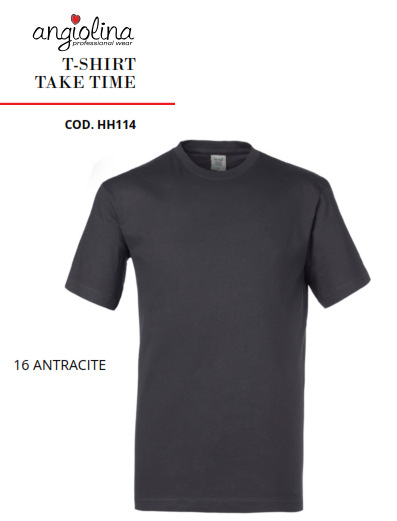 A7W73K - T-SHIRT TAKE TIME -16 ANTRACITE