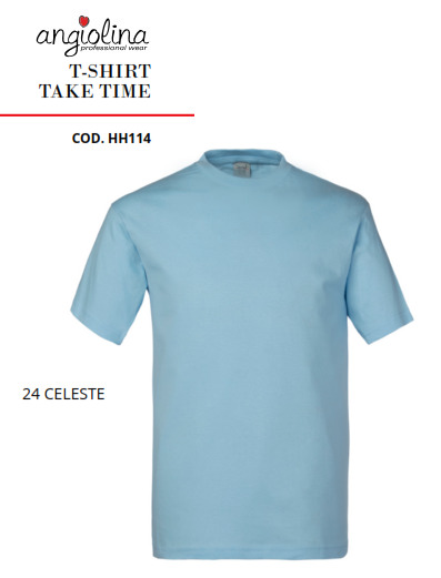 A7W73M - T-SHIRT TAKE TIME - 24 CELESTE