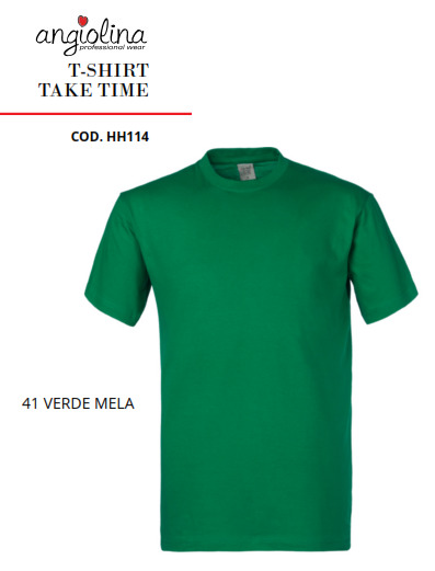 A7W73N - T-SHIRT TAKE TIME - 41 VERDE MELA