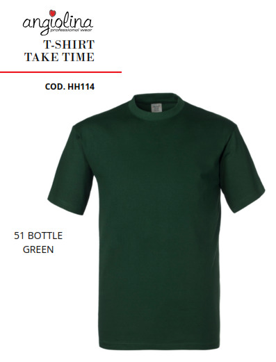 A7W73O - T-SHIRT TAKE TIME -51 VERDE BOTTIGLIA