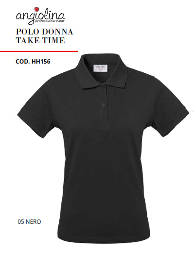 A7W74C - POLO DONNA TAKE TIME - 05 Nero