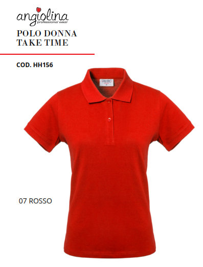 A7W74E - POLO DONNA TAKE TIME - 07 ROSSO