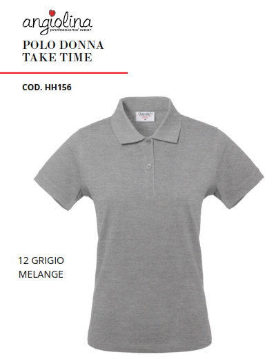 A7W74F - POLO DONNA TAKE TIME - 12 GRIGIO MELANGE
